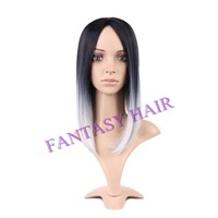 ombre wigs fashion style synthetic wigs straight synthetic hair wigs