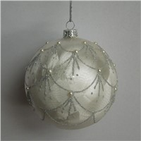Inner Silver Craft Glass Christmas Ball Christmas Day Friend Gift