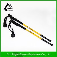 3-section telescopic aluminum 6061 trekking pole or walking cane or hiking pole