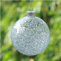 Inner Glass Chips Glass Ball Christmas Tree Hanging Decorative