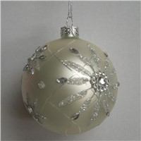 Christmas Day Glass Ball Hanging Glass Globe Home Decoration Christmas Day Friend Gift