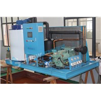 Commericial 5000KG Flake Ice Machine Refrigerant Machine for Fishing