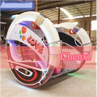 Christmas Amusement Ride Kids Game Machine 360 Degree Rotating Racing Car for Indoor
