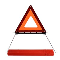 Flashing light heavy duty warning triangle with storage box