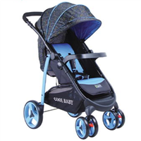 Newest Baby Stroller/Buggy/Pram Deluxe Baby stroller with big storage basket EN;1888