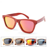 New hot sell wood and bamboo sunglasse for unisex uv 400 poalrized lens