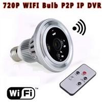 HD 720P WIFI LED Light camera P2P camera spy security camera