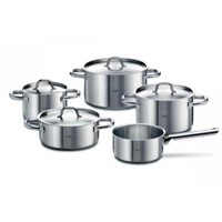 Fissler Family Line Set Fryin & Cooking Pot Casserole Stainless Steel 5PCs (Fs-005)