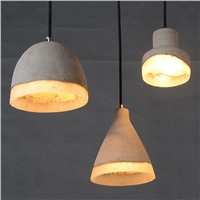 Modern creative cement chandelier, cement pendant light
