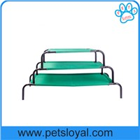 Oxford Durable Elevated Pet Bed with Knitted Fabric for Dogs & Green