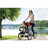 "Whole set selling 3 Wheels 16"" Folding Mother and Baby Bike +1 rain cover+1   side bag Baby Stroller"