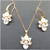 fashiong alloy silver plating jewelry set
