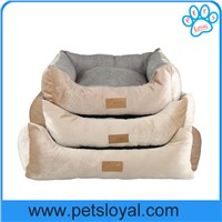 washable dog beds stripes short plush pp cotton machine washable dog bed