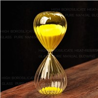 Fashion Striped Glass Sand Clock with different color sands Business Gift Wedding Favor Gift