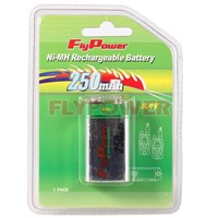 9.0V 250mAh block Ni-MH rechargeable battery