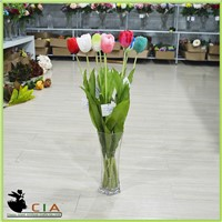 Factory Direct Silk Flowers Artificial Tulip Flower for wholesale