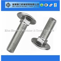 DIN603 904l stainless steel round head bolt , carriage bolt