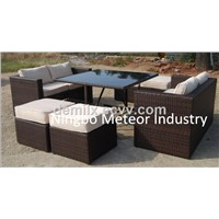 MTC-238 outdoor table set, rattan cube dining set, garden furniture