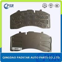 Welded mesh backing plate for truck brake pads WVA29158