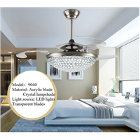 Acrylic Crystal ceiling fan with led lights