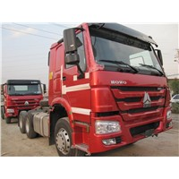 SINOTRUK HOWO 6*4 tractor truck with flat roof long cab , 420HP
