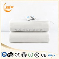 Washable Micro Fleece Portable Electric Heating Blanket with CE,GS