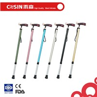 Colorful fashion aluminum hiking walking stick cane for outdoor sports for old and disabled