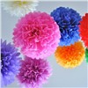 Christmas Decoration Pom Poms Flowers Party Decorations