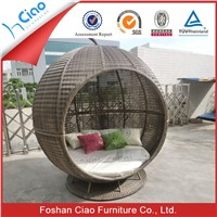 Outdoor furniture general use and rattan wicker material outdoor daybed