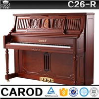 Teak upright piano for sale C26R
