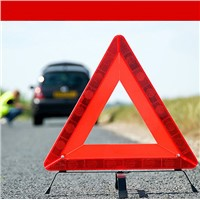 Light Reflecting And Traffic Safety Folding Warning Triangle