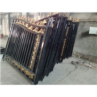 Haotian welded decorative wrought iron gate factory