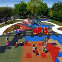 outdoor rubber playground rubber floor with EN1177