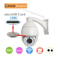 720P HD wifi ip camera ptz ip camera,onvif ptz camera ip ptz camera 5x zoom,Max.128GB microSD Card.
