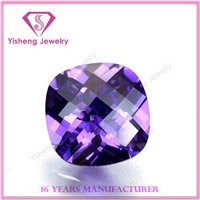 AAA Fashion Square Cushion Loos Gemston Amethyst CZ Diamond Wholessale