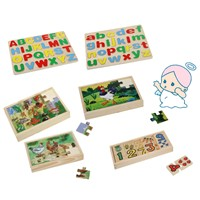 Educational Kids DIY Wooden Alphabet Puzzle Toy