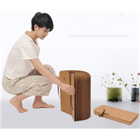 Environmental friendly Folding Waterproof Special Kraft Bar Paper Chair stool folding stool