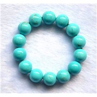 Good Quality  4mm Round Cut Natural Turquoise Stone