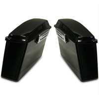 Black Hard Saddlebags Cover for Harley Touring FLT FLH Softail Dyna Electra Glide Road King