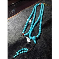 fashion natural turquoise necklace set