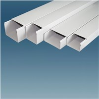 WHITE PVC CABLE TRUNKING