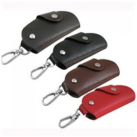 Leather car key wallet,men's key holder 1021