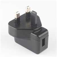 UK plug 5W series power adapter with CE GS