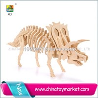 Cotowins 3D souvenir wooden mini moving diy kit moving dinosaur