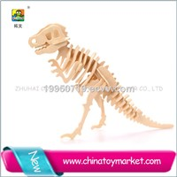 New arrival construction kit promotional wooden diy craft dinosaur puzzle