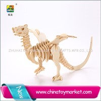 3d educational toy for preshchools,wood wyvern construction