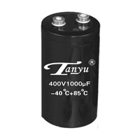 Large screw terminal type aluminum electrolytic capacitor