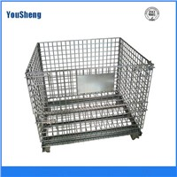 foldable and stackable wrie mesh storage cage (A-3)