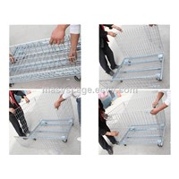 Merchandising Promotional Steel Wire Mesh Cage With Wheels