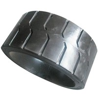 Cured on Solid tyre with rim joint 15x5x11 1/4,15x6x11 1/4,15x7x11 1/4